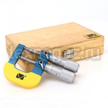Микрометр предельный двушкальный МКП-25 - вместе с футляром